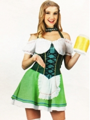Beer Girl Green - Oktoberfest Costumes